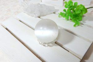 セレナイトの丸玉(スフィア)(16-gs0801-03)