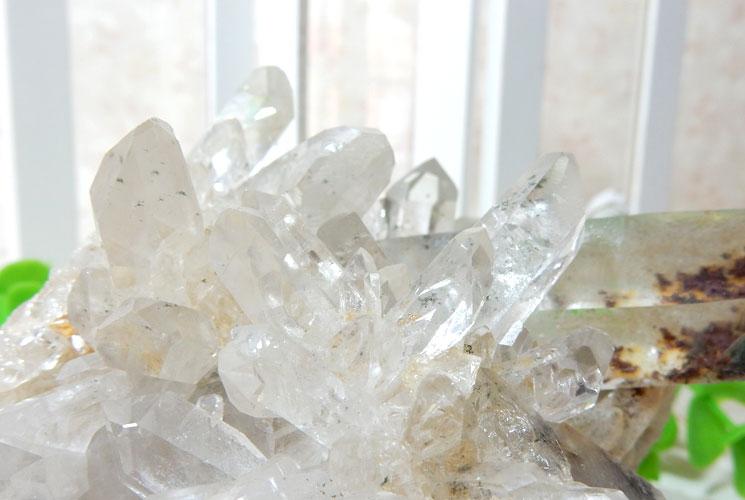ヒマラヤ・ガネーシュヒマール産水晶のクラスター-4