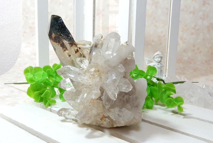 ヒマラヤ・ガネーシュヒマール産水晶のクラスター-6