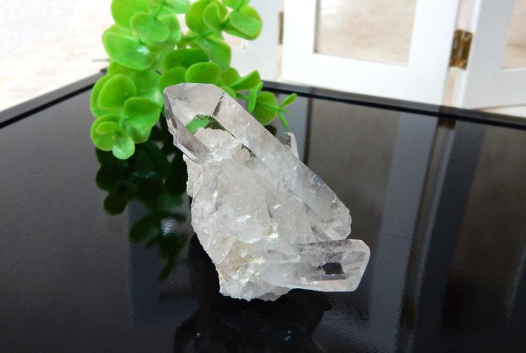 ブラジル産水晶のクラスター-0