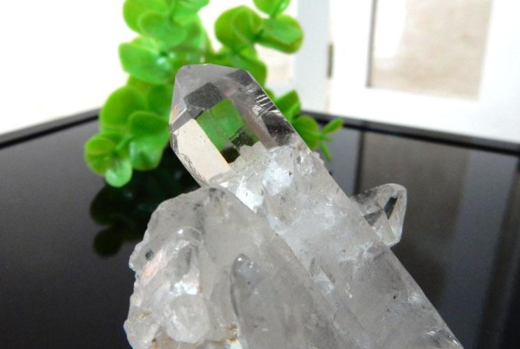 ブラジル産水晶のクラスター-1