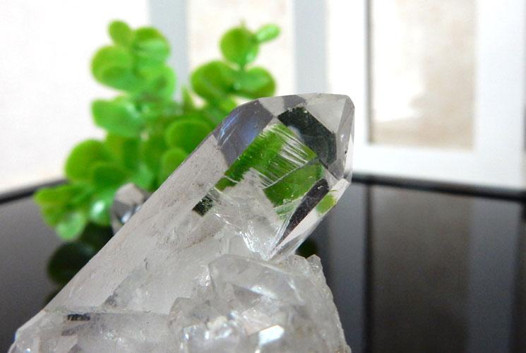 ブラジル産水晶のクラスター-3