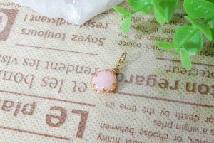 ピンクオパールのプチペンダント(16-nk0610-02)
