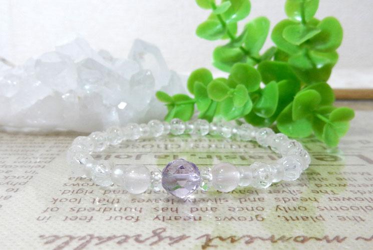 【特価品】クォーツ(水晶)とフロスティクォーツのブレスレット-2