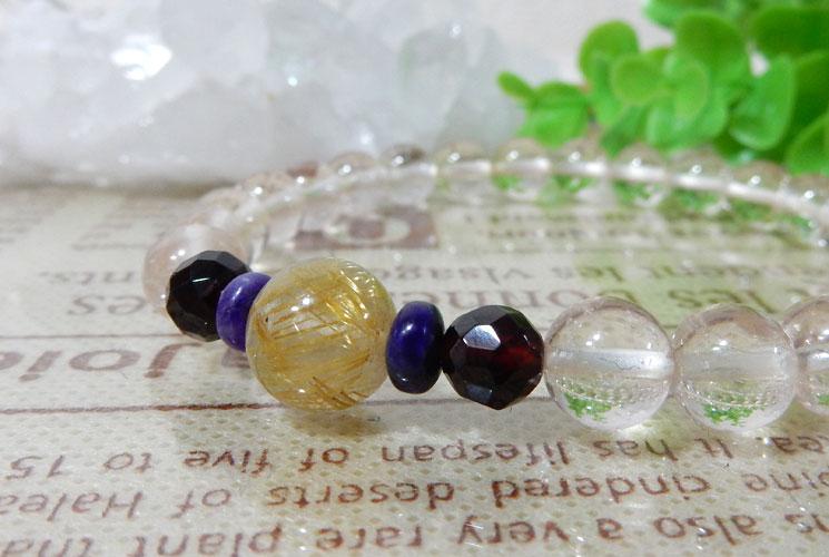 【特価品】ヒマラヤ水晶とルチルクォーツのブレスレット-0