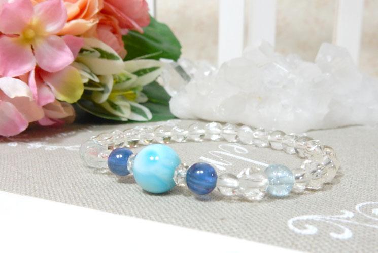 【特価品】ラリマーとカイヤナイトのブレスレット-0
