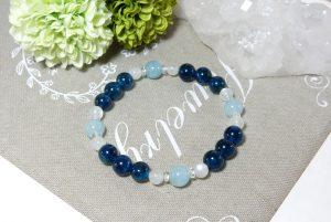 ブルーアパタイトとアクアマリンのブレスレット(17-br0822-01)