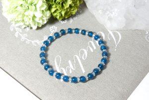 ブルーアパタイトとクォーツ(水晶)のブレスレット(17-br0904-02)