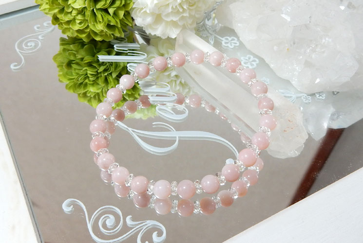 ピンクオパールの6mmブレスレット