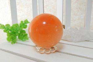 オレンジセレナイトの丸玉(スフィア)(17-gs0101-01)