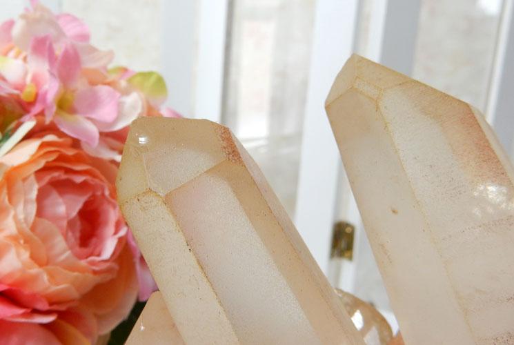ヒマラヤ水晶のクラスター-4