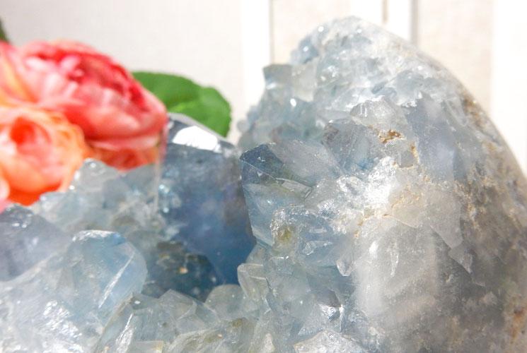 マダガスカル産セレスタイトの原石-6