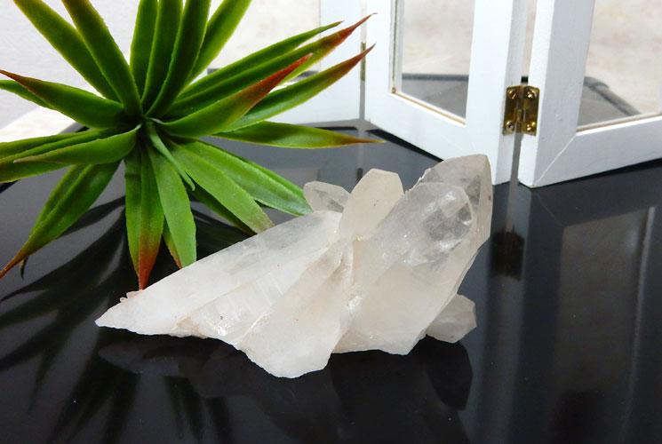 ヒマラヤ水晶のクラスター-0