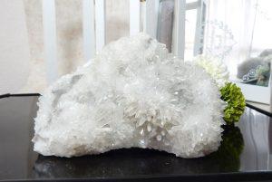 四川省産フラワー水晶クラスター(17-gs1006-01)