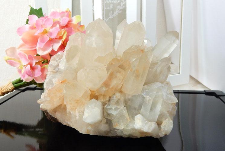 【特価品】ヒマラヤ・マニカラン産の水晶クラスター-0