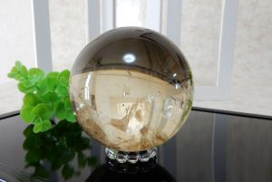 ブラジル産天然シトリンの丸玉(スフィア)(17-sp0101-01)