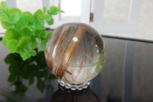 ブラジル産ルチルクォーツの丸玉(スフィア)(17-sp0101-05)