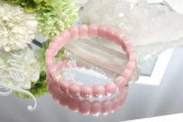 高品質ピンクオパールのバングル(18-br1212-01)