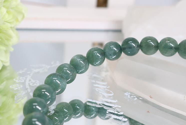 キャッツアイグリーントルマリンの6.5mmブレスレット-1