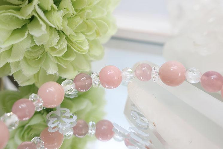 ピンクオパールとルビーのブレスレット-1