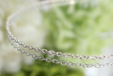 【SV925】ネックレスチェーン(あずき1.0mm)40cm(19-chain1121-01)