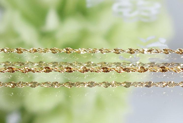 【SV925ゴールド】ネックレスチェーン(ツイスト0.8mm)45cm-0