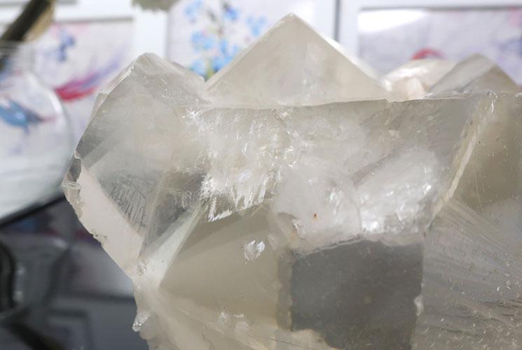 インド産イエローカルサイトの結晶-9