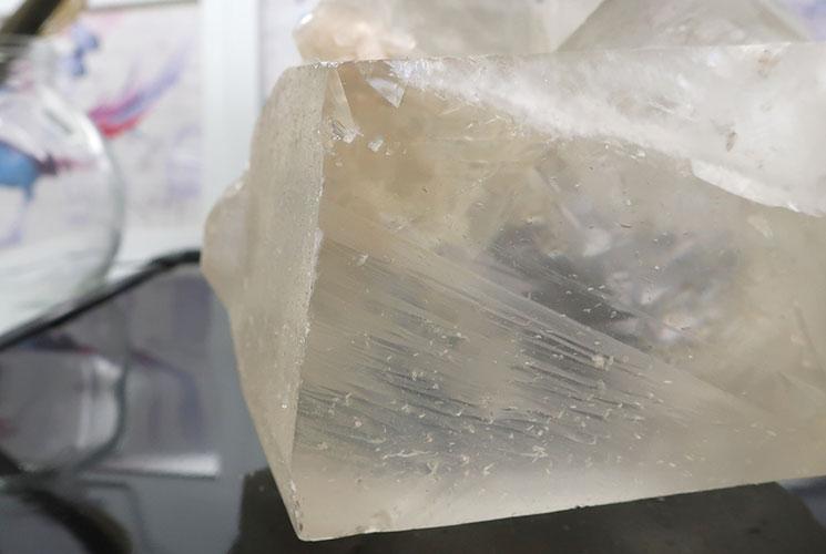 インド産イエローカルサイトの結晶-11