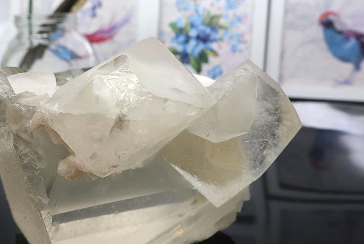 インド産イエローカルサイトの結晶-4