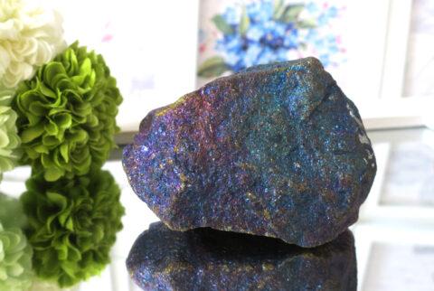 メキシコ産ピーコックオレ(斑銅鉱)の原石(21-gs0401-01)