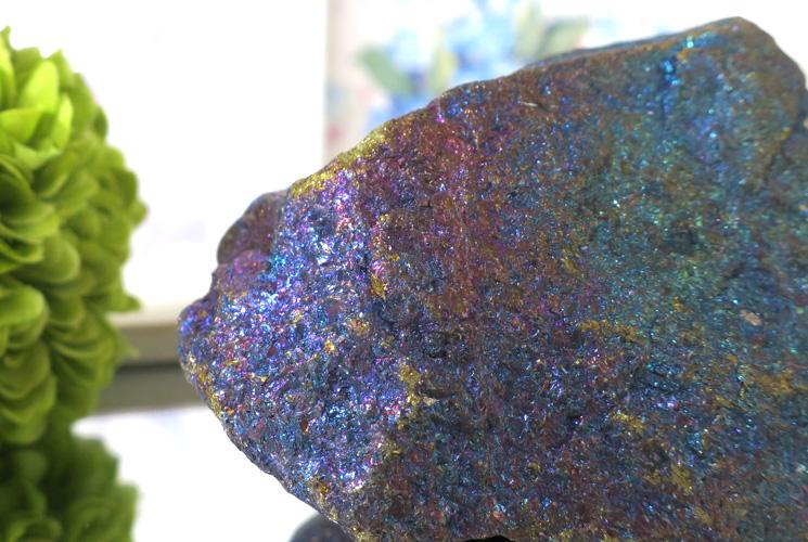 メキシコ産ピーコックオレ(斑銅鉱)の原石-4