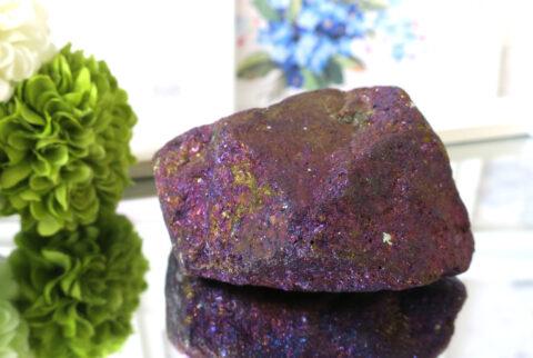 メキシコ産ピーコックオレ(斑銅鉱)の原石(21-gs0401-02)